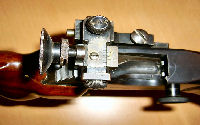 Rear sight of a BSA Martini MkII